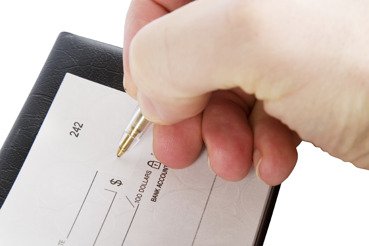 Payment by Cheque image